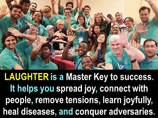 Laughter is a master key to success Vadim Kotelnikov inspirational quotes